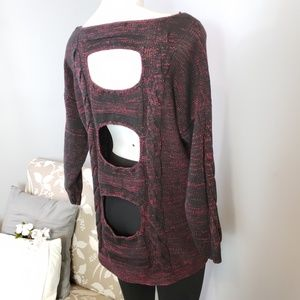 RACHEL Rachel Roy open back sweater